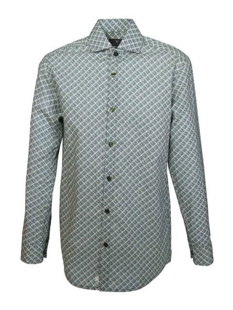 UBERMEN Green Printed Long Sleeve Shirt - CEASAR