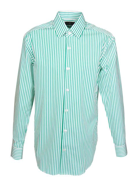 UBERMEN-Green-Stripe-Business-Long-Sleeve-Shirt---SECTION