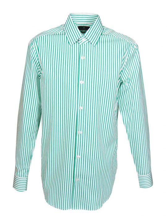 UBERMEN-Green-Stripe-Business-Long-Sleeve-Shirt---SECTION