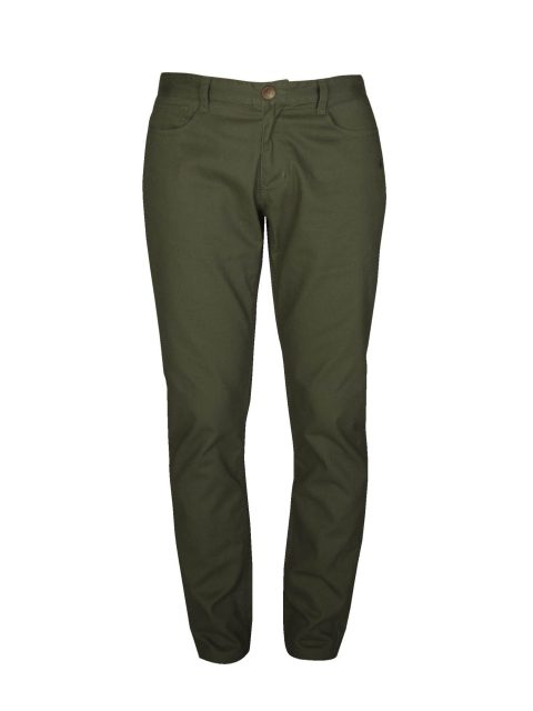 UBERMEN-Green Twill Chino Pants---MOSS