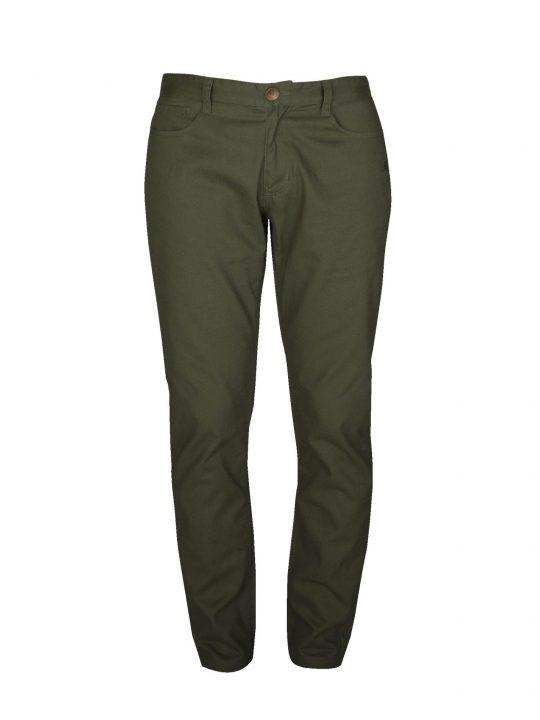 UBERMEN-Green Twill Chino Pants---MOSS