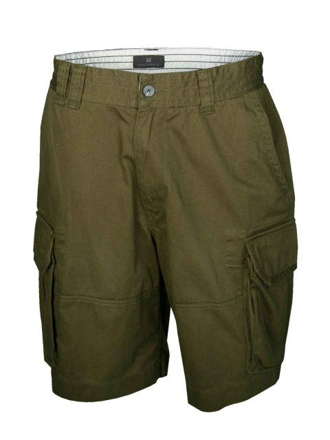 UBERMEN-Khaki-Cargo-Shorts---