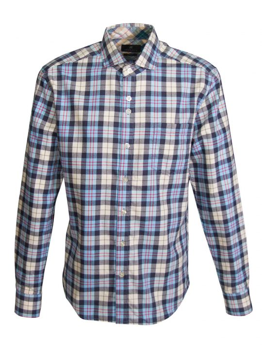 UBERMEN-Light-Blue-Checked-Flannel-Long-Sleeve-Shirt---OUTSTANDING