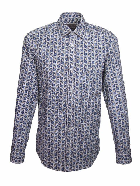 UBERMEN Printed Long Sleeve Shirt - FORM OF LIFE
