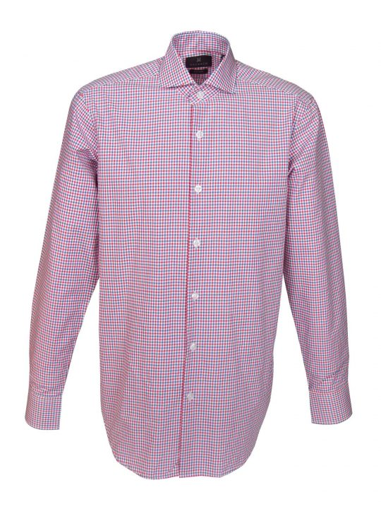 UBERMEN-Red-and-Blue-Checked-Business-Long-Sleeve-Shirt---MAXIMO