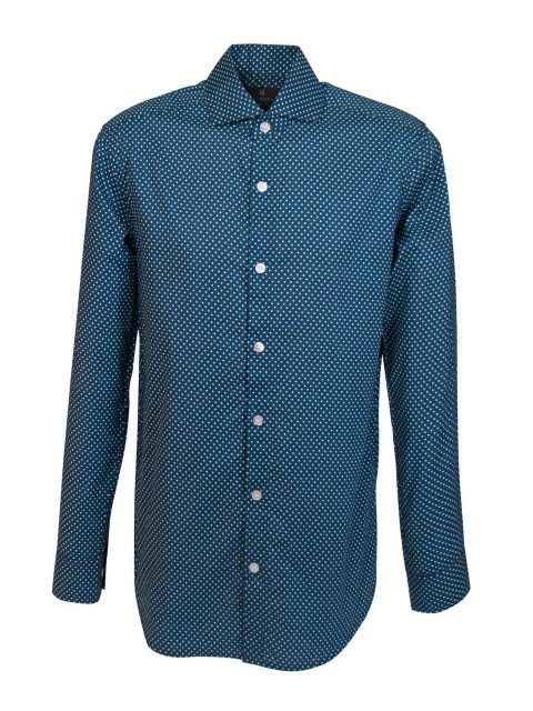 UBERMEN-Teal-Blue-Printed-Long-Sleeve-Shirt---IMPERIAL