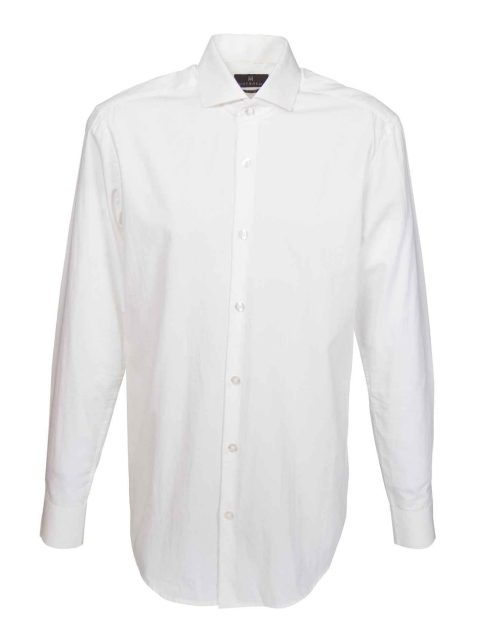 UBERMEN White Cut-Away Collar Business Shirt - PURE