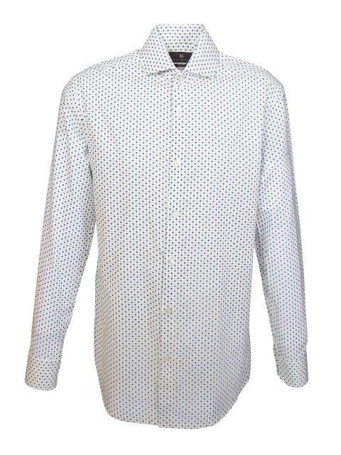 UBERMEN White Printed Long Sleeve Shirt - IN THE ROUGH