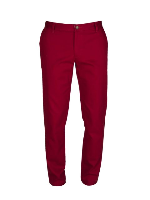 ubermen-red-cotton-twill-pants