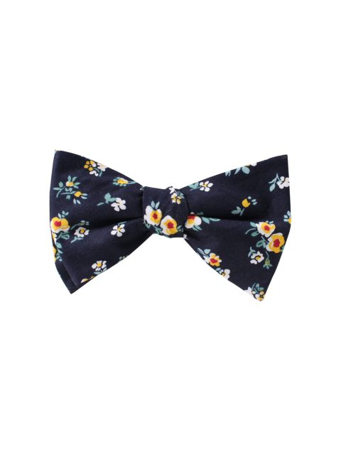 11-AUS-CUFLLINKS-BOWTIES-Floral-Navy-Yellow-Self-Tie-Bow-Tie-1