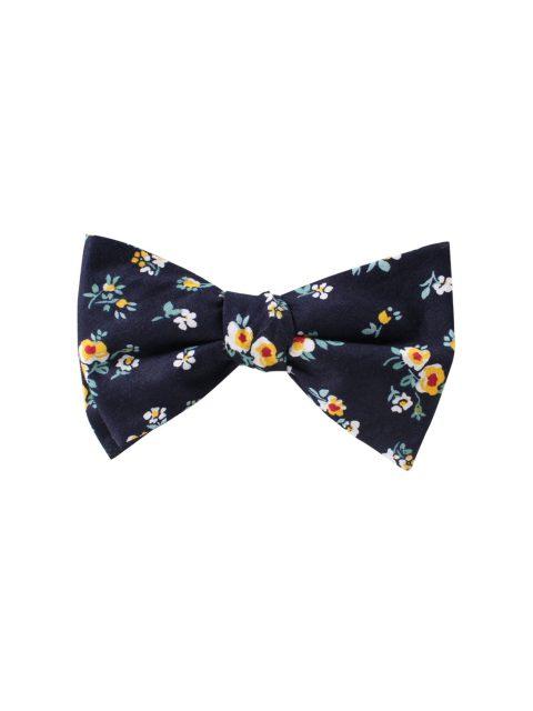 11-AUS-CUFLLINKS-BOWTIES-Floral-Navy-Yellow-Self-Tie-Bow-Tie-1