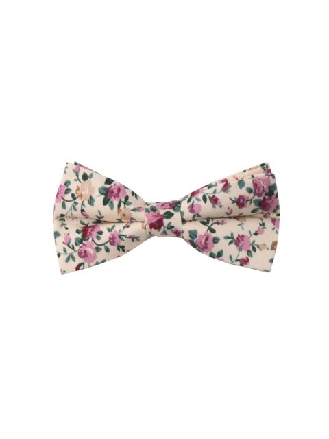 12-AUS-CUFFLINKS-BOWTIES-Pastel-Pink-Rose-Floral-Bow-Tie-and-Pocket-Square-1