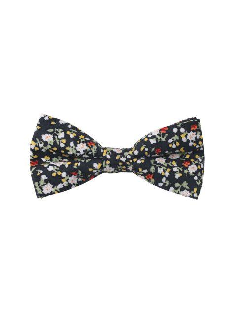 17-AUS-CUFFLINKS-BOWTIES-Black-Red-Yellow-Multi-Floral-Bow-Tie-1