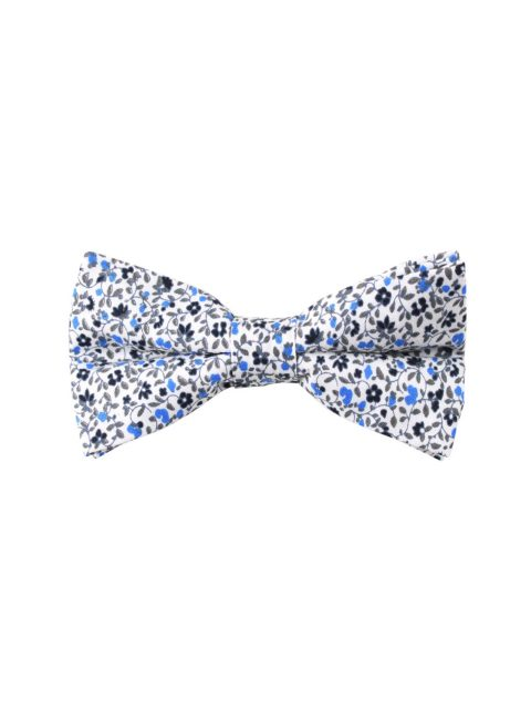 2-AUS-CUFFLINKS-BOWTIES-Black-Light-Blue-Leafy-Floral-Bow-Tie-1