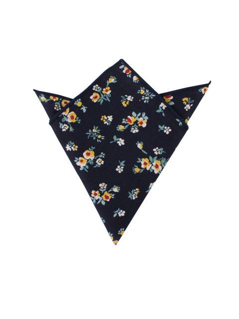 27-AUS-CUFFLINKS-POCKET-SQUARES-Floral-Navy-Yellow-Pocket-Square-1
