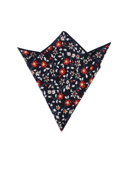 30-AUS-CUFFLINKS-POCKET-SQUARES-Black-Red-Amaryllis-Floral-Pocket-Square-1
