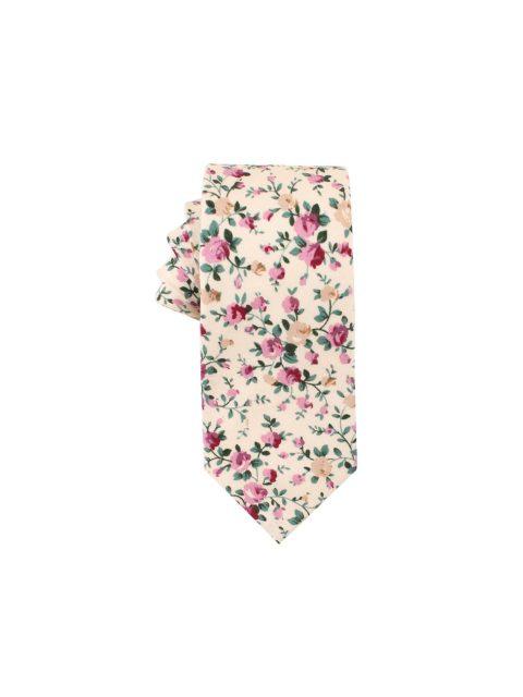 37-AUS-CUFFLINKS-TIES-Pastel-Pink-Rose-Floral-Tie-1