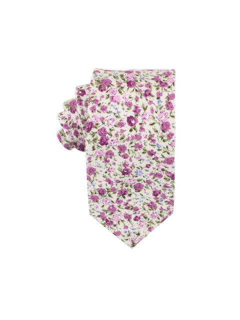 38-AUS-CUFFLINKS-TIES-Pink-Roses-Floral-Tie-1