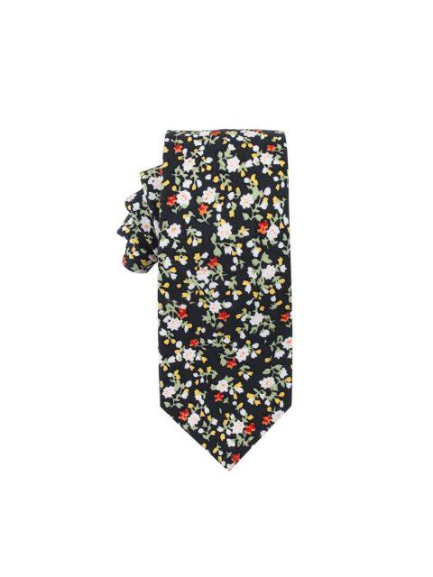 43-AUS-CUFFLINKS-TIES-Black-Red-Yellow-Multi-Floral-Ties-1