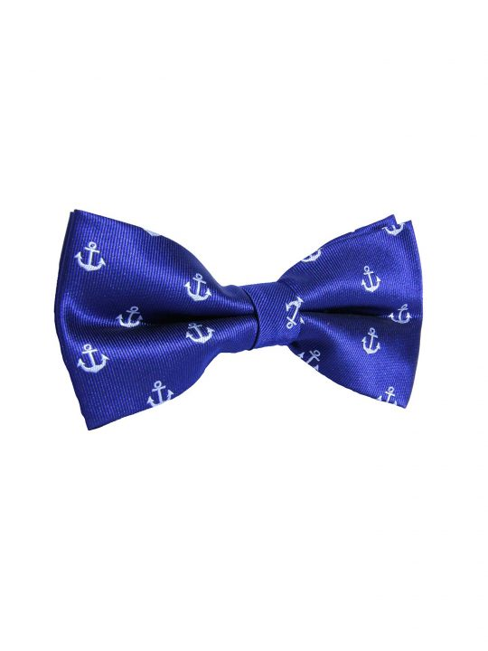 5-AUS-CUFFLINKS-BOWTIES-Blue-White-Anchor-Bow-Tie-1