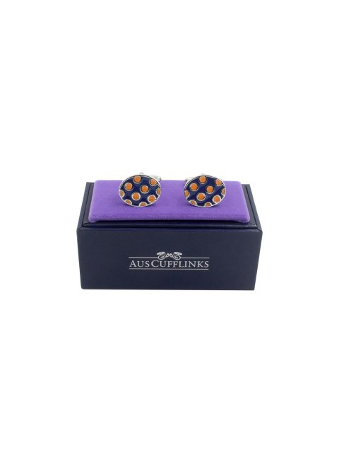 60-AUS-CUFFLINKS-CUFFLINK-Ladybug-Orange-Navy-Cufflinks-2