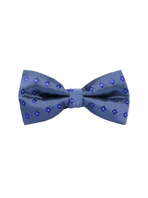 8-AUS-CUFFLINKS-BOWTIES-Blue-Flower-Grey-Bow-Tie-1