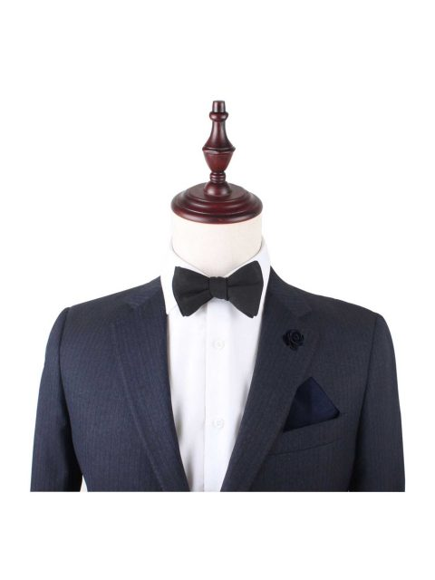 9-AUS-CUFFLINKS-BOWTIES-Classic-Black-Self-Tie-Bow-Tie-2
