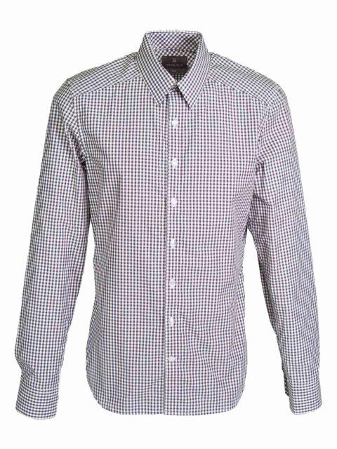 UBERMEN Black Check Long Sleeve Shirt - LATTICE