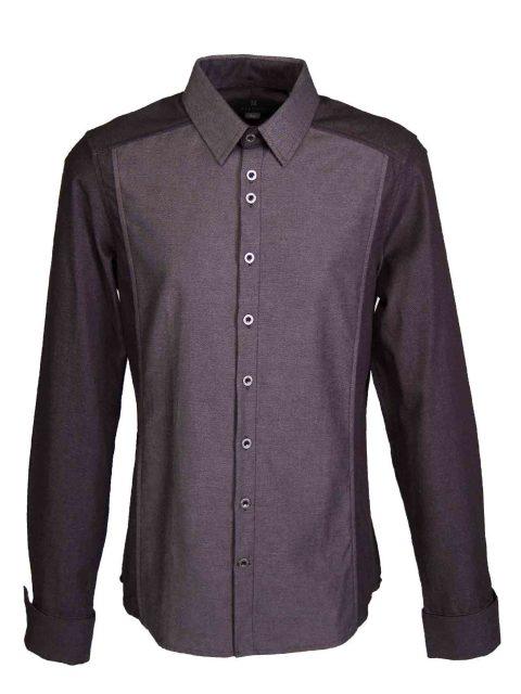 UBERMEN Denim  Long Sleeve Shirt - STEEL