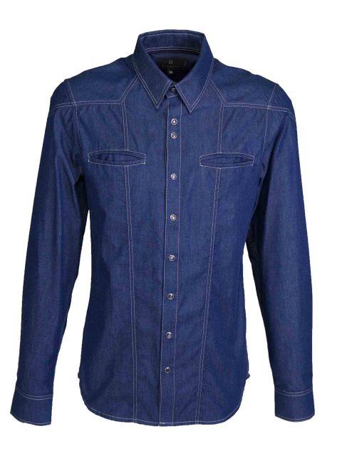 UBERMEN Denim  Long Sleeve Shirt - VISION