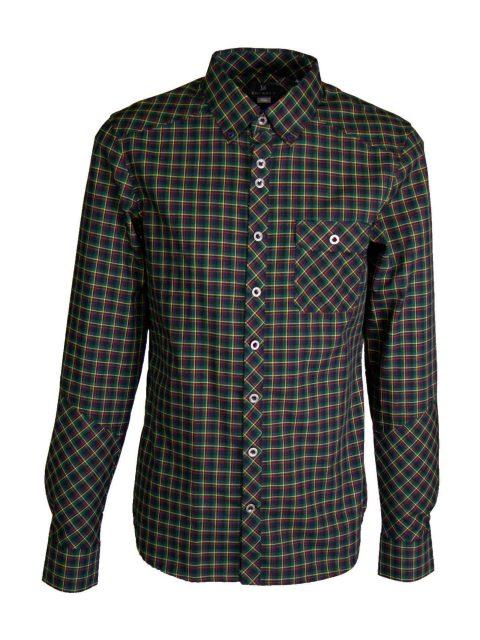 UBERMEN Forest Green Long Sleeve Shirt - EWAN