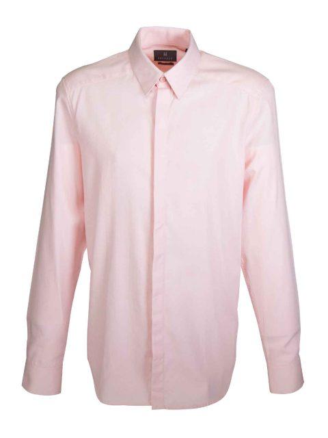 UBERMEN Pink Herringbone Long Sleeve Shirt - FLOYD