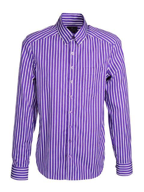 UBERMEN Purple  Business Long Sleeve Shirt - POISE