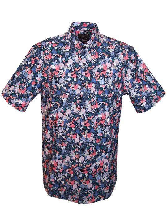 UBERMEN-Black-Floral-Short-Sleeve-Shirt---ODO