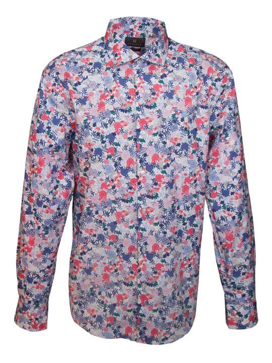 UBERMEN-Multi-Coloured-Floral-Long-Sleeve-Shirt---TAHBERT