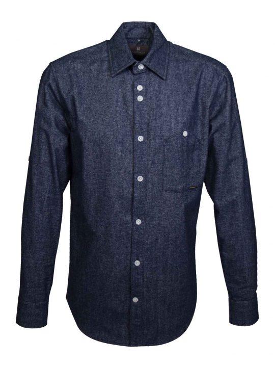 UBERMEN-Navy-Brushed-Oxford-Long-Sleeve-Shirt---DART-SURPRISE