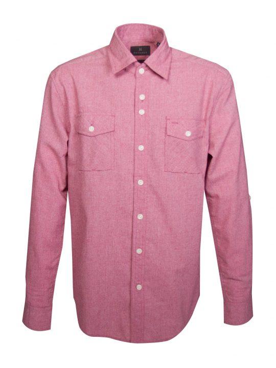 UBERMEN-Pink-Linen-Long-Sleeve-Shirt---Jerome