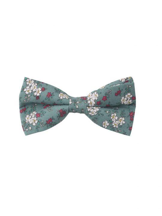 19-AUS-CUFFLINKS-BOWTIES-Blue-White-Pink-Floral-Bow-Tie-1