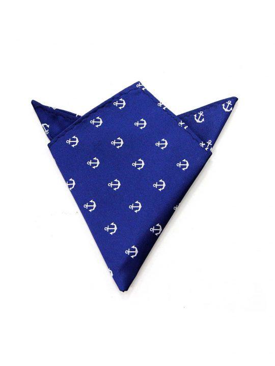 22-AUS-CUFFLINKS-POCKET-SQUARES-Blue-White-Anchor-Pocket-Square-1
